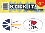 Stick It! - I Luv NL/ Newfoundland Flag - Double