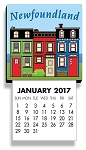 Calendar - Magnetic - Downhome Rowhouse - 2017 - 4 1/2 x 2 1/2