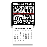 Mini  Calendar - Magnetic - Newfoundland Sayings  - 2018 - 4 .5