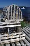 Canvas Photo - Lobster Pots in Witless Bay - 11 x 14