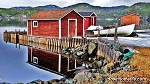 Canvas Photo - CP13 - 11 x 14 - Red Fishing Stage - So Colourful